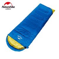 Wholesale Long Tent - Wholesale- NatureHike Ultralight Camping Sleeping Bag Adult Tents Cotton Filler Envelope Outdoor Warm Spring Autumn Hiking Bags 2.2*0.75M