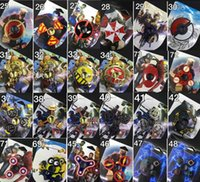Wholesale Avengers Iron Man - 73types New arrival Fidget spinner The Avengers Cartoon spider iron man Hand Spinners toys spinning top EDC Marvel Comics in Retail box 100