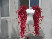big red purple black Angel wings Model stage show catwalk Game shooting large props feather series creative Gift EMS free shipping