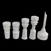 Wholesale Universal Arms - Ceramic Bangers nail carb cap for bong glass water pipe side arm domeless with universal 14mm 18mm male joint ceramic nails domeless