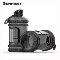 ingrosso grandi bottiglie di plastica-Gennissy 2.2L portatile grandi bottiglie di acqua di grande capacità sport all'aria aperta palestra allenamento campeggio in esecuzione bottiglie d'acqua di plastica