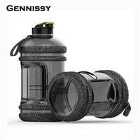 büyük kamp toptan satış-Gennissy 2.2L Taşınabilir Büyük Büyük Kapasiteli Su Şişeleri Açık Spor Salonu Eğitim Kamp Koşu Plastik Su Şişeleri