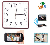 Wholesale wall clock dvr cameras - Wall Clock Pinhole DVR Clock Video Recorder Home Security Camera IP DVR Spy Wireless Baby Monitor Home Security Nanny Cam PQ273