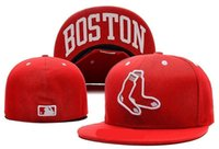 Wholesale new new style Boston Red Sox Fitted Cap Embroidered Team Logo Baseball Cap Casual Style sport Fit size men women hats