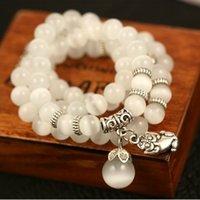 Wholesale Pi Xiu Bracelet - Wholesale- Natural s339 - eye crystal pi xiu bracelet laughing buddha - eye sphere bracelet jewelry