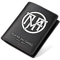 Wholesale Gang Style - MJ116 wallet MJ fresh Gang hip hop purse Rap music short long cash note case Money notecase Leather burse bag Card holders