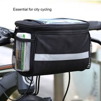 Wholesale Bicycle Frame Handle - Sport Bike Accessories Bicycle Frame Pannier Front Tube Bag Handle Bar Bags Essential For City Cycling