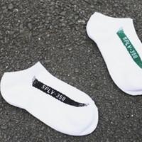 Wholesale Best Athletic Socks - Lows men socks Kanye West Sply 350 Boost V2 Core Black Copper Met compression summer ankle Socks Sport crew man cotton sock best