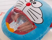 Wholesale Hand Warmer Pillow - 2017NEWCreative cartoon hand warmer tororo pillow plush toys, doraemon hand warmer nap pillow cushion, can play telephone in the pillow