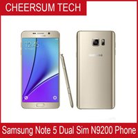 Wholesale Mobile Phones One Sim - Original Samsung Galaxy Note 5 5.7'' Mobile Phone 4GB 32GB ROM 16MP Octa Core 2.1GHz 2560x1440 One SIM LTE 3000mAh Refurbished