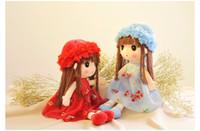 Wholesale New Beautiful Girls - new beautiful faery and princess dolls cute little girl doll plush toys children's doll