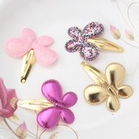 Baby Girls Аксессуары для волос Sequins Heart Butterfly Barrettes Glitter Stars BB Clip Hair Clips Kids Kids Hairpin Wholesale