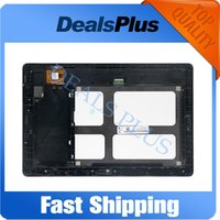 Wholesale H Frame - Wholesale- Replacement New LCD Display Touch Screen with Frame Assembly For Lenovo Tab A10-70 A7600 A7600-F A7600-H Black Free Shipping