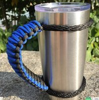 Wholesale Cheap Fabric Curtains - 7 Colors Handmade cup Handle Paracord For YETI 20oz 30 oz Tumbler Cups Cheap DHL Free Shipping