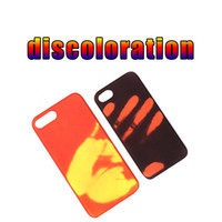 Wholesale Case Ip5 Wholesale - New Hand Thermal Sensor Case Fundas Funny Physical thermal discoloration Phones Cases Soft Silicone Cover For ip5 6 6p 7 7p 8 8p