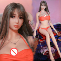 Wholesale Male Sex Toy Skin - Top Quality Sexy Love Doll 158cm Japan Real Silicone Sex Doll With Realistic Vagina Ass Lifelike Oral Sex Dolls Adult Male Masturbation Toy