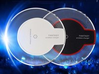 Wholesale Wireless Ufo - Factory Manufactuer crystal Fantasy Wireless Charger UFO Shape Charging Pad with LED Light for iphone charger for Samsung and Android Phones