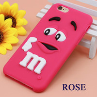 Wholesale Iphone 5c Cartoon - SE 5 and 5S soft silicone shell Cartoon M&M is used for iPhone 6 6S 7 Plus 4 4S 5C