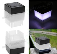 Wholesale Pool Decor - NEW Hot Solar Powered power LED Square White Light For Fence Post Pool Garden Yard Pathway Outdoor Christmas Decor MYY