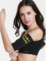 Wholesale Slimming Arm Shaper Sleeve - Wholesale- 1 Pair Women Sauna Arm Shaper Slimming Slimmer Sleeve Wraps Black
