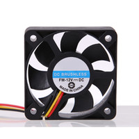 Wholesale Dc 12v Brushless Cooling Fan - High Quality Wholesale Price 3 Pin CPU 5cm Cooling Cooler Fan Heatsinks Radiator 50mm 10mm for PC Computer 12V DC Brushless Fan