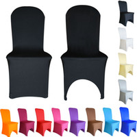 Wholesale Blue Spandex Chair Covers - Chair Covers Spandex Lycra Wedding Banquet Anniversary Party DÉCor Chair Cover Hotel Wedding Decoration Products Office Chair Cover