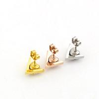 Wholesale Titanium Crystal Shape - Korean version of the new V letter heart women stylish titanium zirconium Diamond Earrings heart-shaped diamond hypoallergenic Earrings