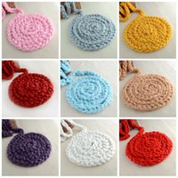 Wholesale Cribs Sales - Anti Pilling Wool Twist Rope For Photo Props Backdrop Baby Blankets Crochet Knitted Blanket Fashion Hot Sale 13ly B