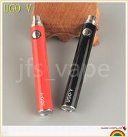 Wholesale ego ce4 usb passthrough - UGO-T UGO-V USB passthrough battery e cigarettes 650mah 900mah 1100mah for ecigs protank CE4 CE5 MT3 eGo Vaporizer Atomizer tanks vape pens