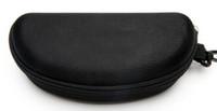 spor gözlük kılıfı toptan satış-sert kılıf Fermuar Kanca Güneş Kutu Sıkıştırma Gözlük Kılıfı Siyah Metal Plastik Spor güneş kutusu kutusu ücretsiz nakliye gözlük