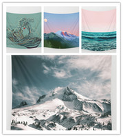 Wholesale Beach Hood - Mount Hood Tapestry Background Yoga Home Cloth Beach Towel Living Room Decoration Wall decoration ECO Friendly