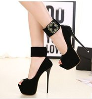 Women blasting cover - New Arrival Hot Sale Fashion Princess Female Summer Elegant Sweet Roman Tidal Buckles Blasting Peep Toe Platform Party Heels Sandals EU34