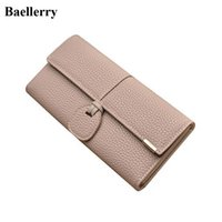 Wholesale female money - 2017 New Designer Phone Leather Wallets Women Wallets Long Solid Coin Purses Clutch Wallets Female Money Bag Credit Card Holders