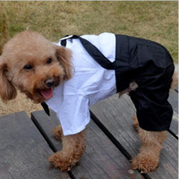 pet dog dress gentleman suit false two pieces small large dog clothing Abiti da sposa foto Swallowtail DHL PD023 gratuito