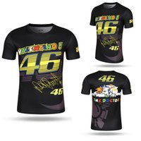 Wholesale Motocross Motorcycle Jersey - 2017 New Valentino Rossi VR46 46 Shark Motocross Jerseys bike Cycling Racing Motorcycle Bicycle Motor QUICK-DRY Short Sleeve T shirt Tee 01