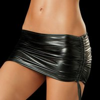 Wholesale Sexy Skirt Woman - hot selling Mini skirt Sexy Women BodyconTop Quality sexy leather Clubwear Sexy Club Faux Leather free shipping