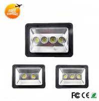 outdoor fluorescent flood lights - LED Floodlight Outdoor W W W LED Flood light lamps waterproof Landscape lighting LED projector for venues AC85 V