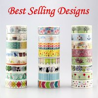 Wholesale Selling Decorative Tape - Wholesale- 2016 1x 10m Best Selling Designs(elephant,cats,flowers,flags)Decorative Washi Tape DIY Scrapbooking Masking Tape School Office