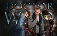 Wholesale Space Art Paintings - Doctor Who - BBC Space Travel Season 8 Hot TV Show Art print silk Poster Wall Decor