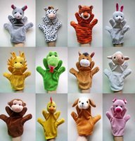 Wholesale Puppets For Kids - 12Pcs Lot Funny Hand Puppets For Kids Plush Hand Puppets For Sale Chinese Zodiac Style Cartoon Hand Puppets Large Size