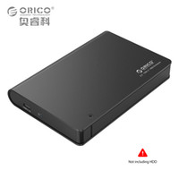 Wholesale Hot Box Disk - Wholesale- ORICO 2598C3-BK Aluminium 2.5 SATA3.0 USB3.0 HDD Enclosure Case Type-c Hard Disk Box Support Hot Plug 9.5mm & 12.5mm Hard Drive