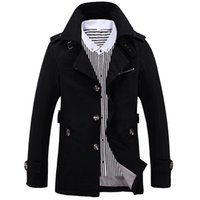 Wholesale trenchcoat style - Wholesale- 5XL, 2016 New Men's Jackets Fashion Slim TrenchCoat Casual Coats Men Full Style Windbreaker Solid Business Brand Clothing LA071