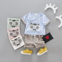 Wholesale Totoro Clothes - 2017 korean style toddlers infant boys girl clothing set summer cartoon Totoro t-shirt+ear pants 2 pcs
