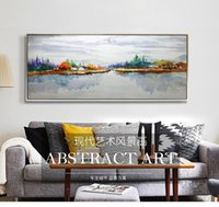 Wholesale 100 Handmade oil painting On CanvaArt Pictures abstract painting for Sofa Wall Decoration No Frame x86cm