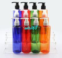 Wholesale Dispenser Detergent - Cosmetic Bottles Sample Pump Dispenser with Flat Shoulder Heathy PET Cream, Shampoo, Detergent Container 250ml 10PSC