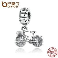 mulheres de jóias de bicicleta venda por atacado-Pandora estilo 925 sterling silver encantos encantos da bicicleta fit diy pulseiras bonitos encantos para o bebê mulheres jóias pas327