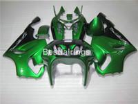96 carenado negro al por mayor-Kit de carenado de carrocería para Kawasaki Ninja ZX7R 96 97 98 99 00 01 02 03 carenados de color verde verde ZX7R 1996-2003 TY04