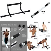 Wholesale Door Gym Chin - Sports & Outdoors Fitness Equipment Home & Office Door Pull Up Bar Chin Pull Up Bar Gym Door Bar for Woman & Man To Body Building