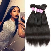 Barato Cabelo Remy Parece Brasileiro-Cozy Remy Silky Straight Human Hair Weave 5pcs ou 6pcs Natural Looking Weave Brazilian Malaysian Peruvian Virgin Hair Straight Bundles