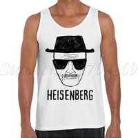 Wholesale Draw Vest - Wholesale- Heisenberg Hand-drawing Men fashion tank tops casual o-neck basic male singlets hipster Breaking Bad printed Vest